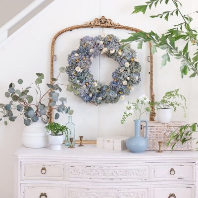 How to Make A Dried Hydrangea Wreath | DIY Dried Hydrangeas Decor Ideas