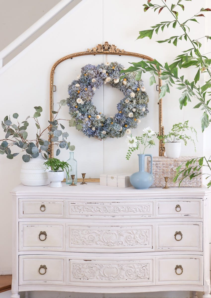 diy dried hydrangea wreath