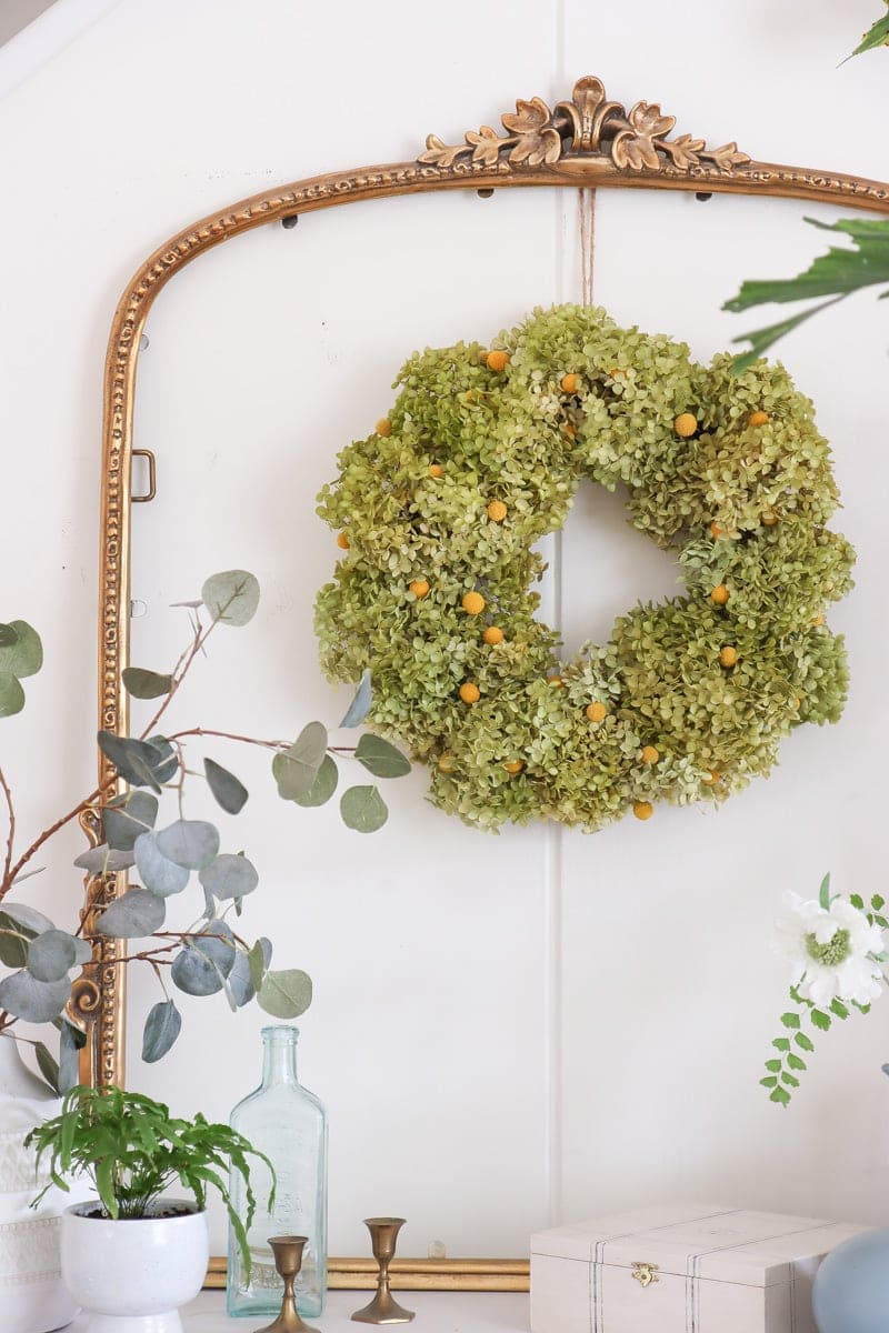 annabelle green hydrangea wreath decor ideas