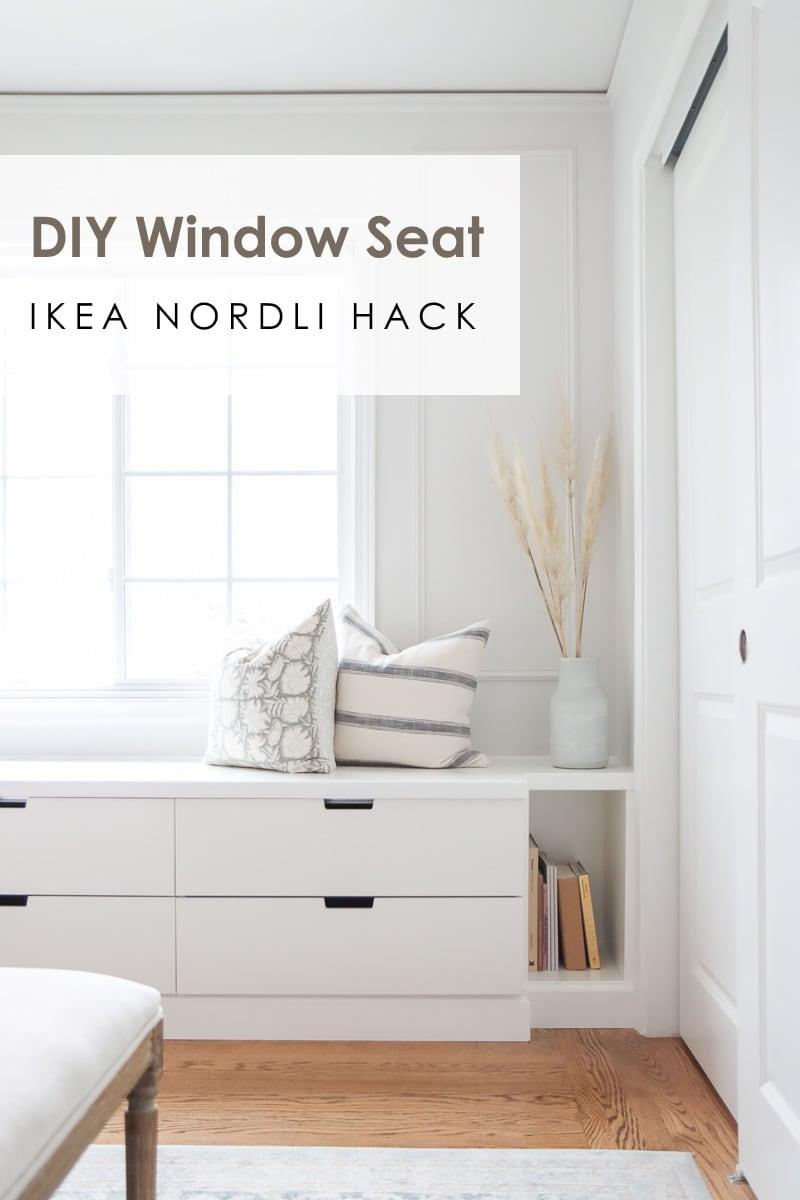 DIY Ikea window seat DIY with Nordli drawer hack