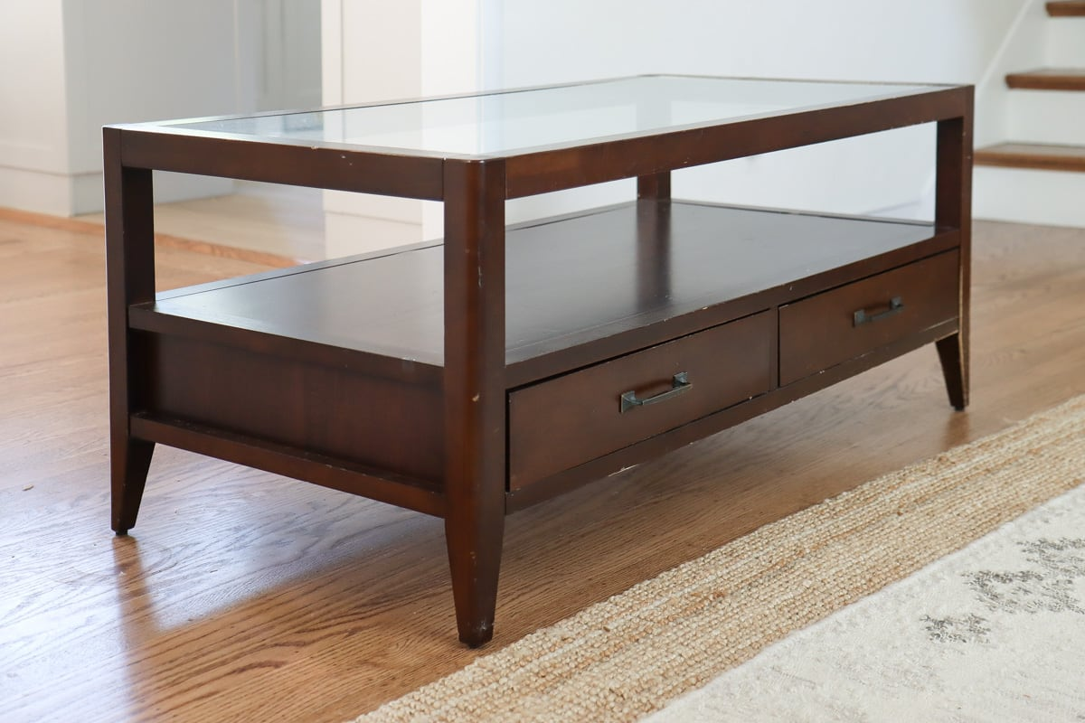 How to refinish a Coffee table