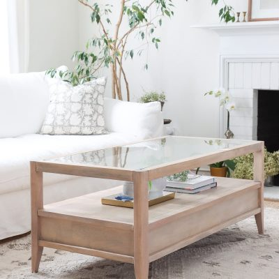 Coffee Table Makeover   How To Refinish An Old Coffee Table with Glass Top