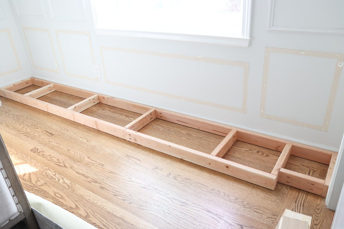 DIY window seat 2x4 base