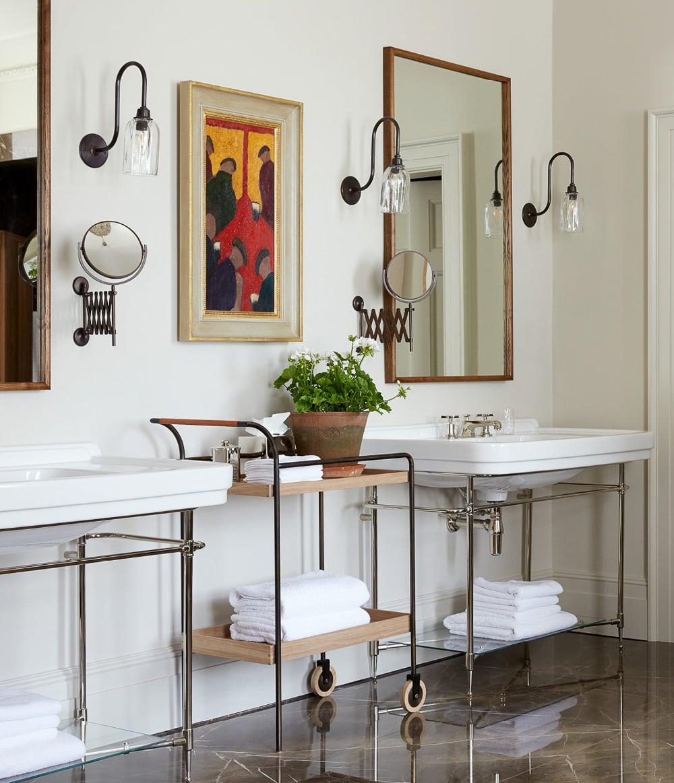 modern georgian style homes master bathroom