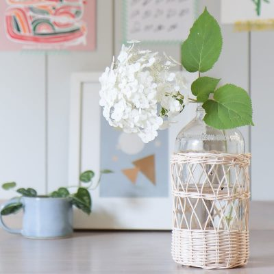 How to upcycle glass bottles and jars | How to weave rattan basket