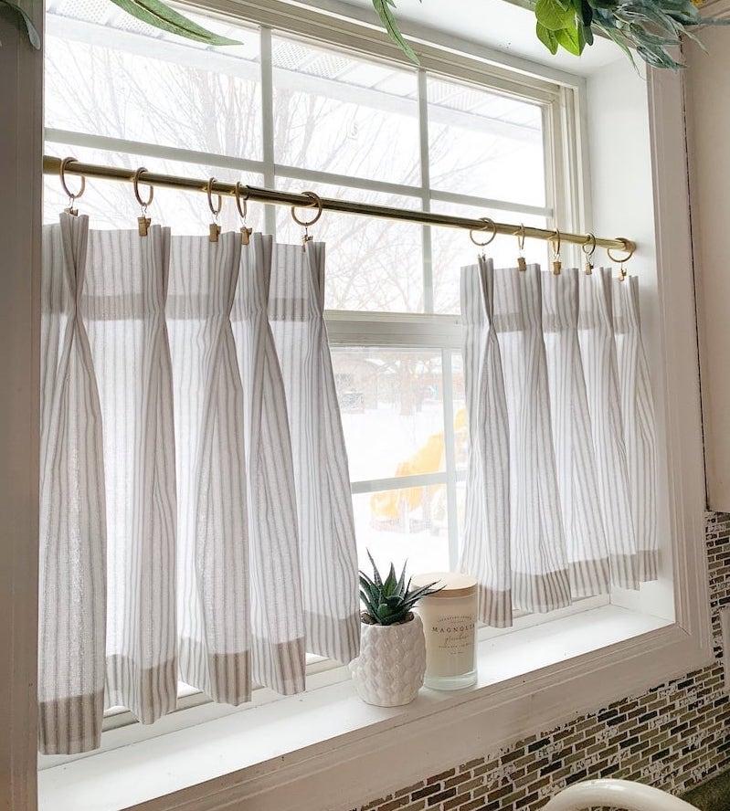 kitchen window treatment roman cafe curtain