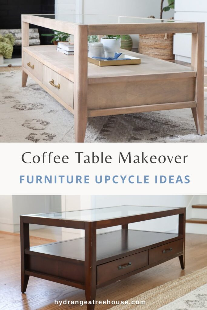 coffee table makeover ideas - how to refinish old wood furniture