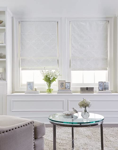 farmhouse roman shades for window