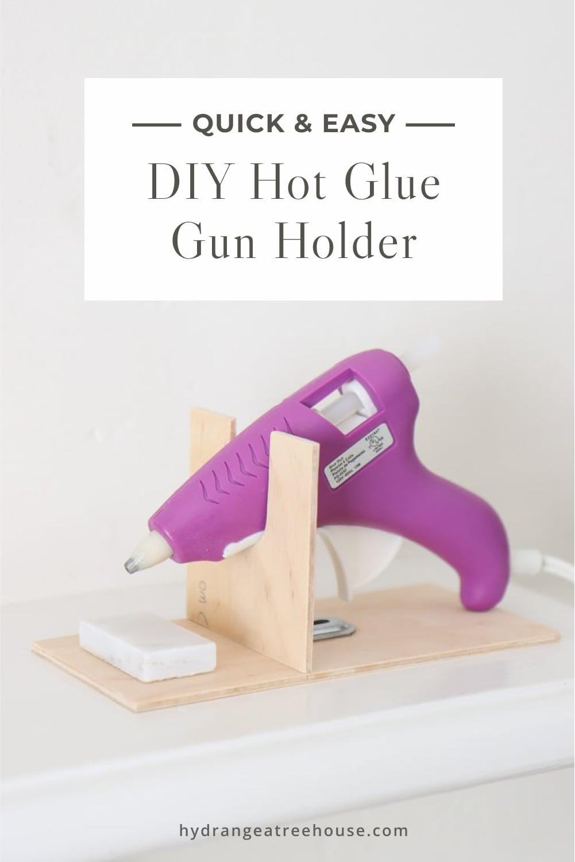 diy hot glue gun holder, how to make wooden glue gun stand