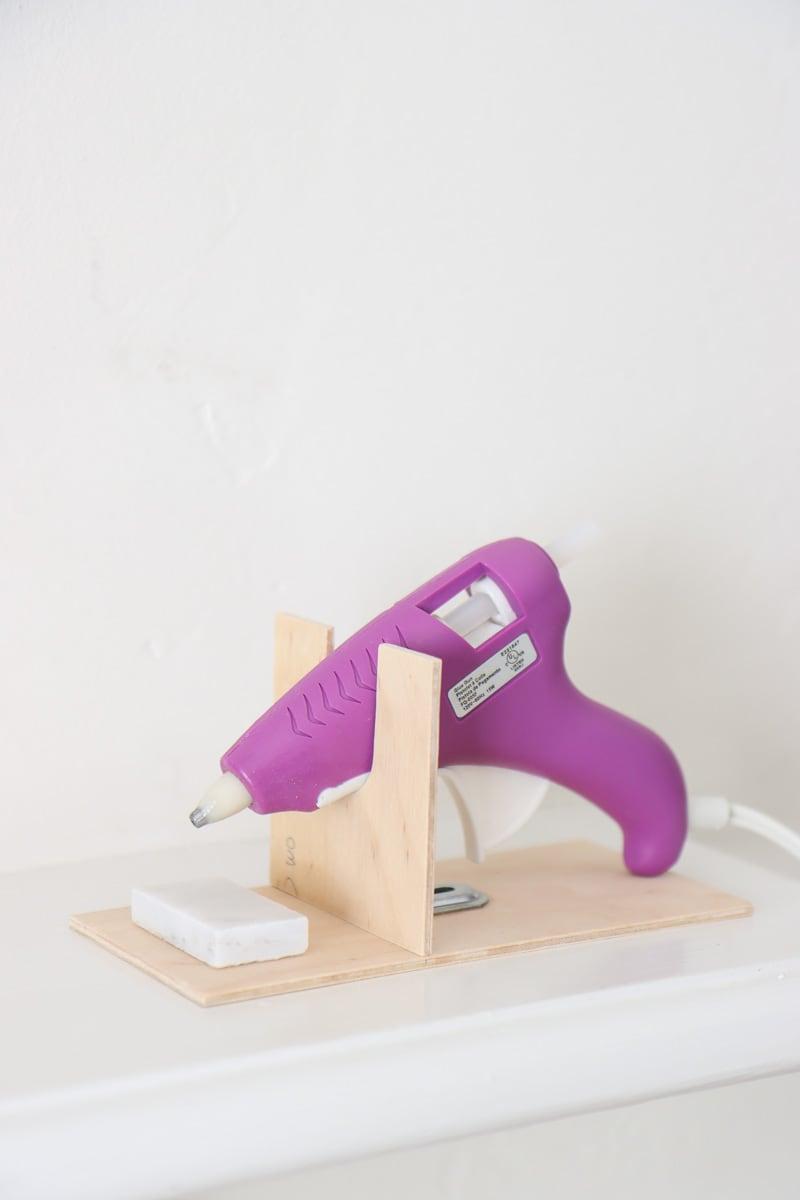 how to make glue gun holder easy tutorial