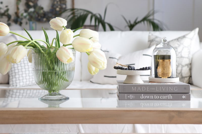 glass coffee table decorating ideas