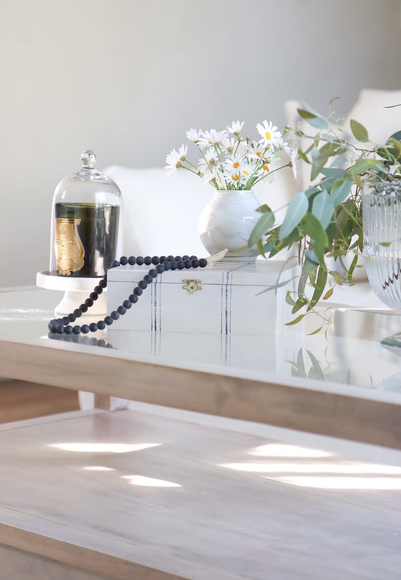glass top coffee table styling ideas