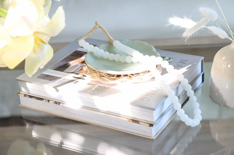 glass coffee table styling