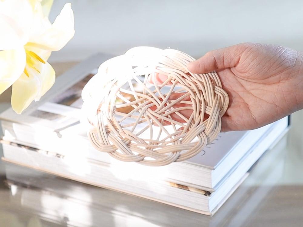 rattan coaster coffee table decor