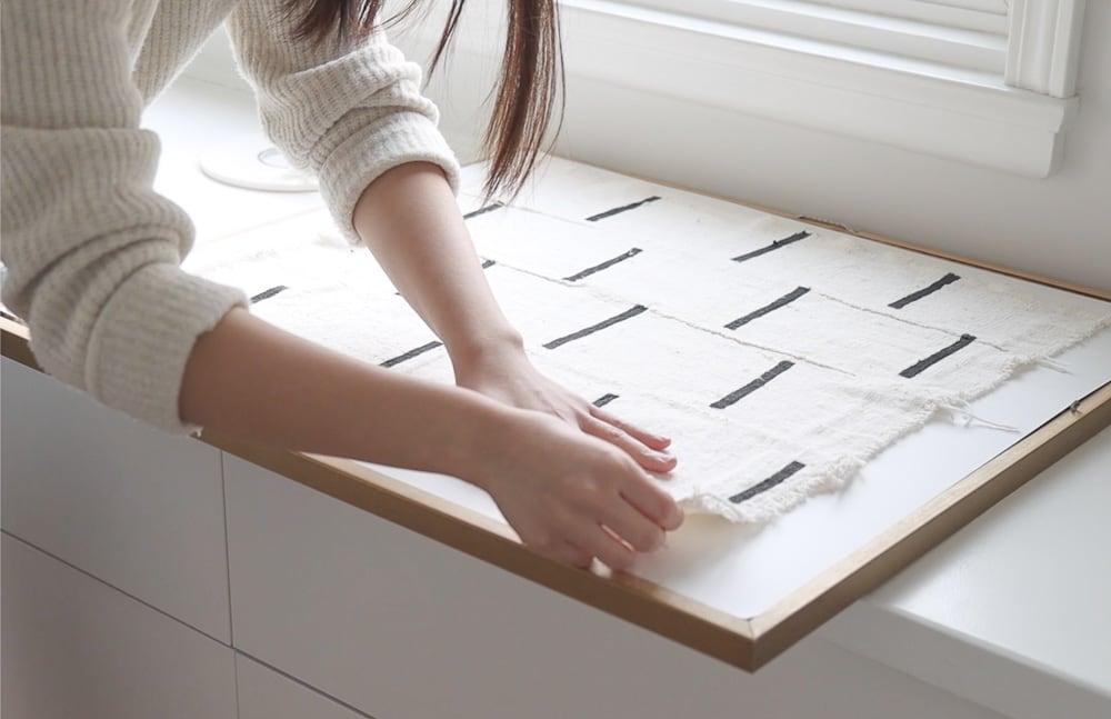 wie man Textilkunst einrahmt