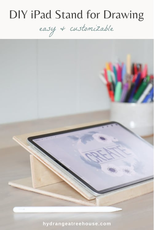 DIY ipad stand for drawing, adjustable tablet holder