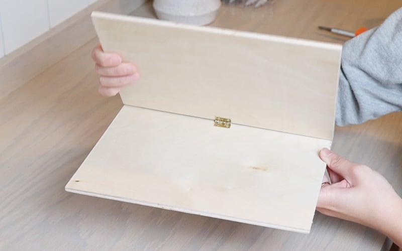 DIY wood iPad tablet stand